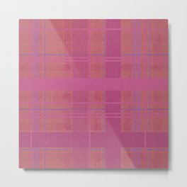 pink madras Metal Print