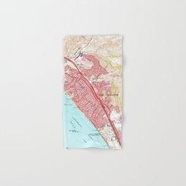 Vintage Map of San Clemente California (1968) Hand & Bath Towel
