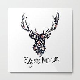 expecto patronum floral Metal Print