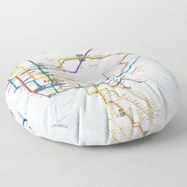 New York Subway Map Floor Pillow