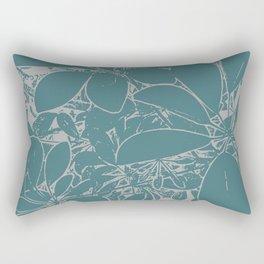 Umbrella Plant In Aqua Rectangular Pillow