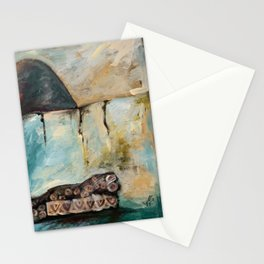 """""""THE REST OF THE OWL"""" INSPIRED AT MASAI RIVER, KENYA Stationery Cards"""