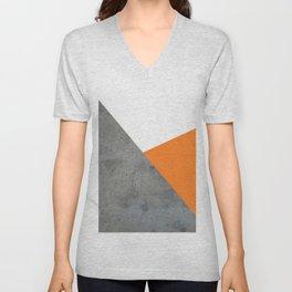 Concrete Tangerine White Unisex V-Neck