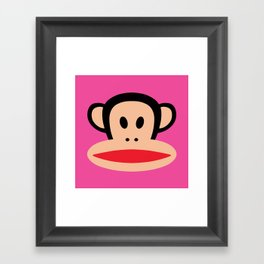 Julius Monkey by Paul Frank - Pink Framed Art Print
