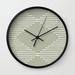 Geo (Linen Sage) Wall Clock