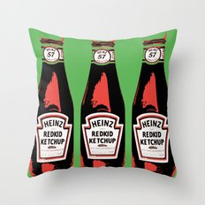 Everyone's favorite ketchup art print Throw Pillow