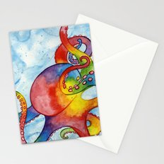 Rainbow Octopus Stationery Cards