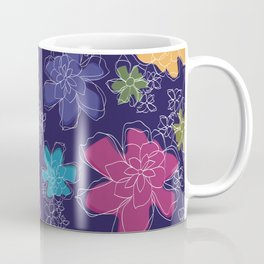 Floral - #Bright #Flowers #Abstract #Pattern Coffee Mug