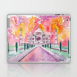Taj Mahal - Colorful Crown of the Palace and Love Laptop & iPad Skin