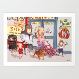 The Chav Family Outing Art Print