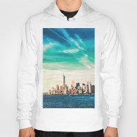 skyline Hoodies featuring NYC Skyline by Vivienne Gucwa