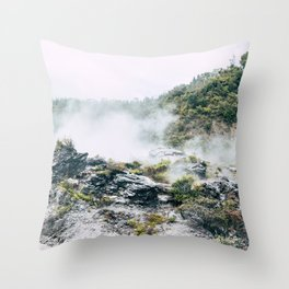 Steaming Earth Throw Pillow