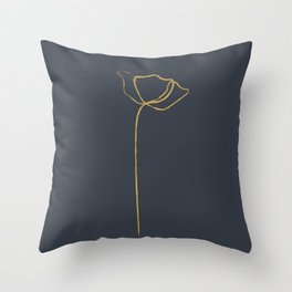 simpel flower line art Throw Pillow