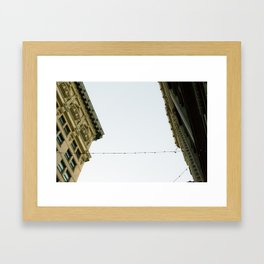 Connected Building  Framed Art Print