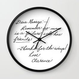 It's a Wonderful Life - Clarence Wall Clock