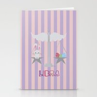 libra Stationery Cards featuring Libra by Esther Ilustra