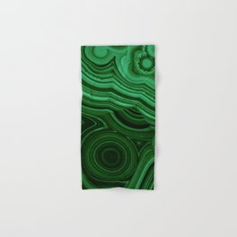 GREEN MALACHITE STONE PATTERN Hand & Bath Towel