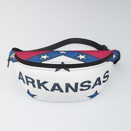 Arkansas Map with Arkansan Flag Fanny Pack