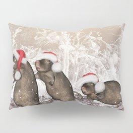 Funny christmas rats Pillow Sham