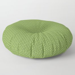 Knitted spring colors - Pantone Greenery Floor Pillow