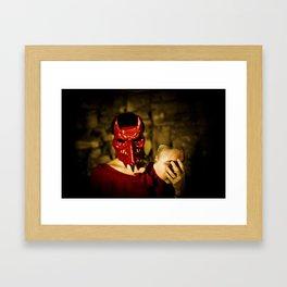 the devil inside Framed Art Print