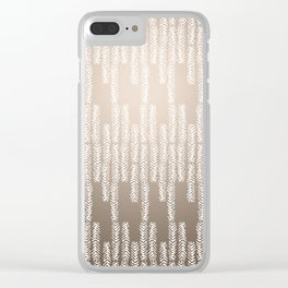 Eye of the Magpie tribal style pattern - champagne Clear iPhone Case