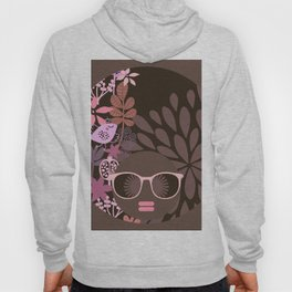 Afro Diva : Sophisticated Lady Pink Taupe Lavender Hoody