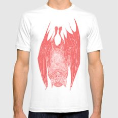 vampire bat White LARGE Mens Fitted Tee