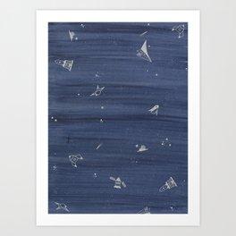 blue space Art Print