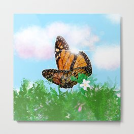 Butterfly in the Light Metal Print