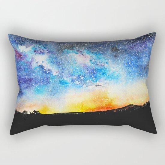 When night is falling || watercolor Rectangular Pillow