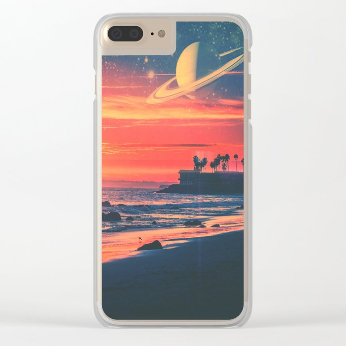 A Fax From the Beach Clear iPhone Case