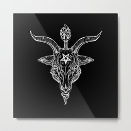 Baphomet Black Phillip Metal Print