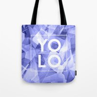 sayings Tote Bags featuring Dreams of YOLO Vol.3 by HappyMelvin