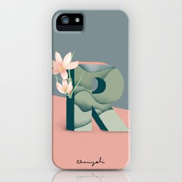 Vase R Rain Lily iPhone Case