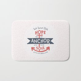 """Anchor for the Soul"" Hand-lettered Bible Verse Bath Mat"