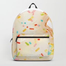 Overfill white chocolate doughnut Backpack