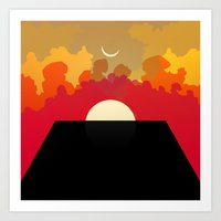 2001 Art Prints featuring 2001 Monolith by Andras Wobe Kocsis