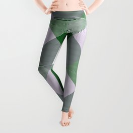 Geometrical Square Abstraction 10 Leggings