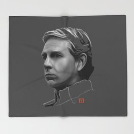 Orson Krennic: sketch-painting Throw Blanket