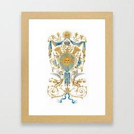 Badge of King Louis XIV Framed Art Print