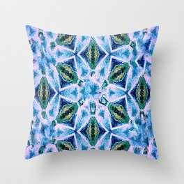 Geometric pattern in purple and blue Throw Pillow