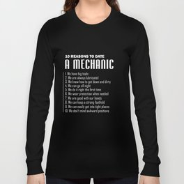 Mechanic T-Shirt Funny Date For Mechanic Clothes Gifts Long Sleeve T-shirt