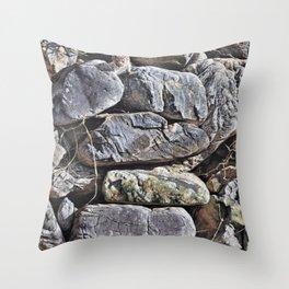 Peekaboo Stoat by Alan M Hunt Throw Pillow