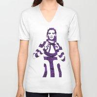 megan lara V-neck T-shirts featuring Fashion Lara Stone by fashionistheonlycure