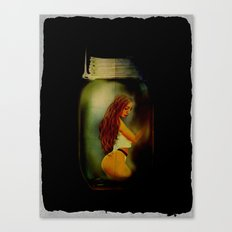 Lost Without You  (Lady In A Jar) Grunge  Canvas Print