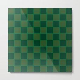 Squared Green Metal Print