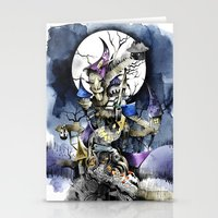 nightmare before christmas Stationery Cards featuring The nightmare before christmas by Sandra Ink