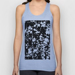 Black and white contrast ink spilled paint mess Unisex Tank Top