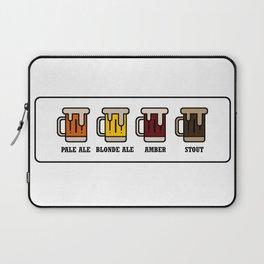 Beer Types Laptop Sleeve
